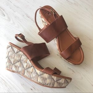 Lucky Brand • Straw Weave Wedge Sandals Boho